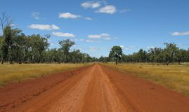 Outback road. Red sand outback road in Australia, away from all traffic Royalty Free Stock Images
