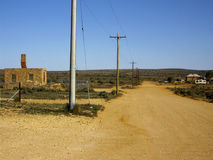 Outback road. Remote outback dirt road near Broken Hill, Australia Royalty Free Stock Image