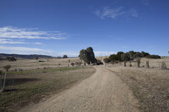 Outback road. A dirt road in outback new south wales, australia Stock Photos