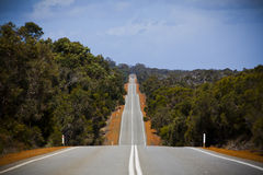 Outback Road. Open road in Australia stretching into distance. Landscape stock image