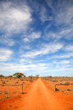 Outback road Australia. Red dust outback road Australia