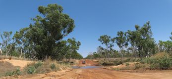 Outback road, australia Royalty Free Stock Image