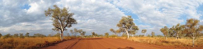 Outback road, australia Royalty Free Stock Photo