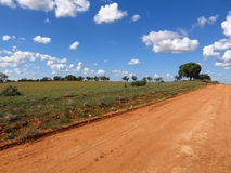 Outback road, australia Royalty Free Stock Photos