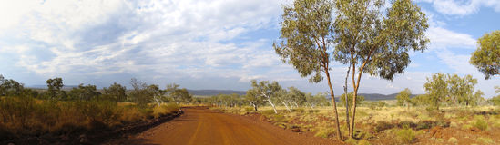 Outback road, australia Stock Photography