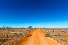 Outback road. Australia. Royalty Free Stock Photography