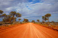 Outback road. Australia. Outback road. Red dusty gravel road. Australia Stock Photography