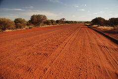 Outback road, Northern Territory, Australia. Outback gravel road, Northern Territory, Australia Royalty Free Stock Images