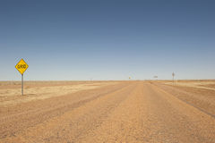 Outback road in remote Queensland, Australia Royalty Free Stock Photos