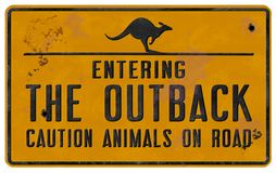 Outback Tin Sign Vintage royalty free stock photo