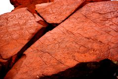 Outback Rocks, Ancient Art stock image