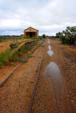 Outback stazione ferroviaria Immagini Stock
