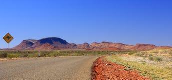 Outback strada Fotografia Stock Libera da Diritti