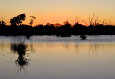 Outback sunset Royalty Free Stock Photos