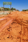 Outback Track. Road Signs on an Off Road Track Stock Photo