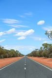 Outback two lane road Royalty Free Stock Photo