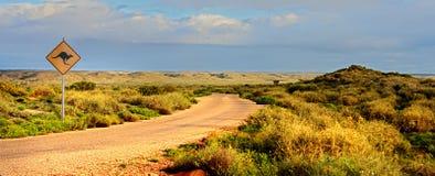 outback väg Arkivbilder