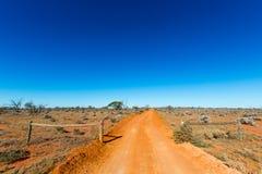 outback väg australasian Royaltyfri Fotografi