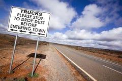 outback vägmärke Arkivfoton