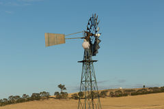 Outback Windmill Repair Stock Photography