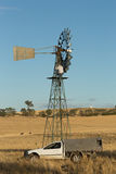 Outback Windmill Repair Stock Photos