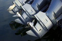 Outboard Boat Engines royalty free stock image