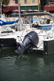 Outboard engine royalty free stock image