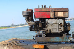 Outboard engine. Royalty Free Stock Photo
