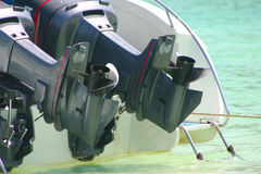 Outboard engines Stock Photography