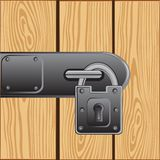 Outboard lock on door Stock Images