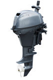 Outboard motor isolated on white background. Outboard motor system isolated on white close up Stock Images