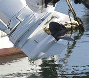 Outboard motor propeller royalty free stock images