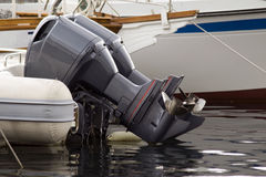 Outboard motorboat engines Stock Images