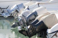 Outboard silników profili/lów widok Zdjęcie Royalty Free