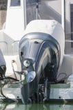 Outboard silnik z pokrywą Obraz Stock