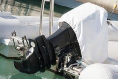 Outboard silnik z pokrywą Obrazy Stock