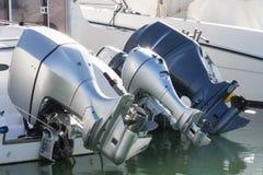 Outboard silniki w odpoczynku Obrazy Royalty Free