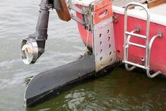 Outboard yacht& x27 i; s rudder Wydmuchowy napęd dla inlan obrazy stock