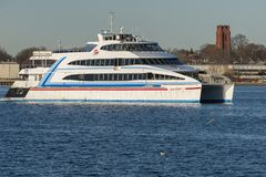 Outbound Hy-Line ferry Grey Lady IV Royalty Free Stock Photos