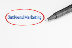 Outbound Marketing - Business Concept Royalty Free Stock Images