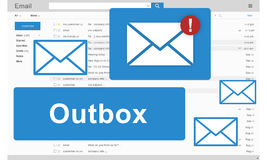 Outbox Business Communication Envelope Mail Concept Royalty Free Stock Images
