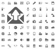 Outbox icon. Media, Music and Communication vector illustration icon set. Set of universal icons. Set of 64 icons.  Royalty Free Stock Photography
