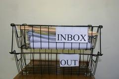 outbox inbox Стоковые Изображения