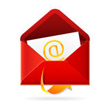 Outbox mails icon. Vector illustration of an Outbox mails icon Royalty Free Stock Photography