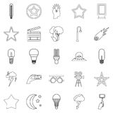 Outbreak icons set, outline style. Outbreak icons set. Outline set of 25 outbreak vector icons for web isolated on white background Royalty Free Stock Image