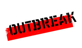 Outbreak rubber stamp. Grunge design with dust scratches. Effects can be easily removed for a clean, crisp look. Color is easily changed Stock Image