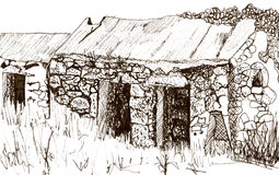 outbuilding σκίτσο Στοκ εικόνες με δικαίωμα ελεύθερης χρήσης