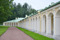 Outbuilding of Big Menshikovsky palace in Oranienbaum. stock photography