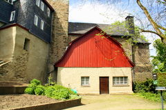Outbuilding of the Obere Schloss. Germany stock image