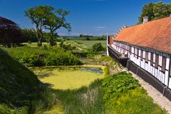 Outbuildings at Castle Dragsholm in Denmark. Royalty Free Stock Images